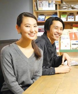 Left: Saeko Fujii, Right: Shingo Nakamura, Producer of Mai Ame Kobo
