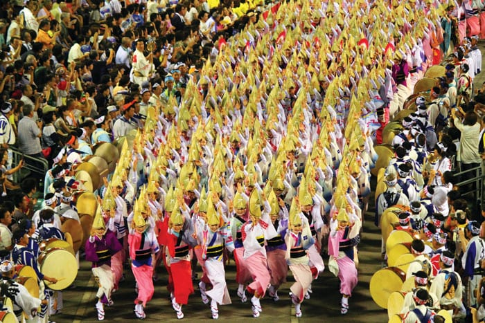 Tokushima's folk dance, Awa-odori, is one of the best-known in all of Japan and is regularly performed in cities across the country