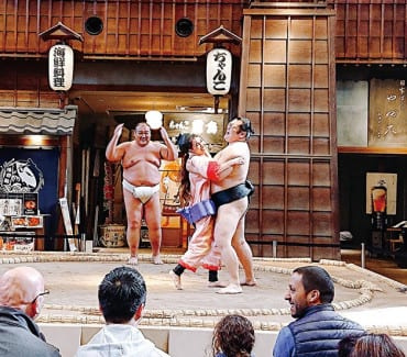 Ryogoku Edo Noren sumo ring